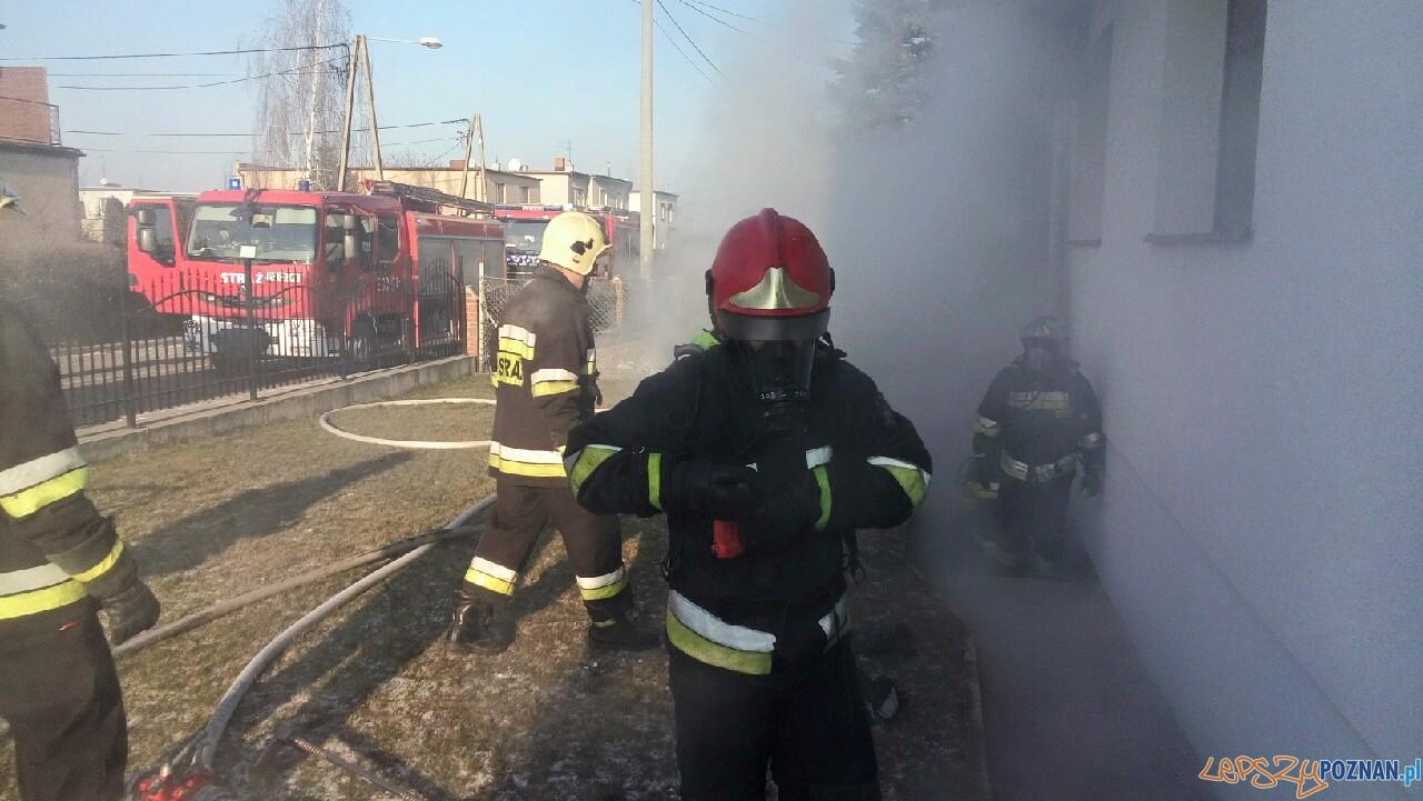 Pożar kotłowni w Kostrzynie  Foto: OSP Kostrzyn