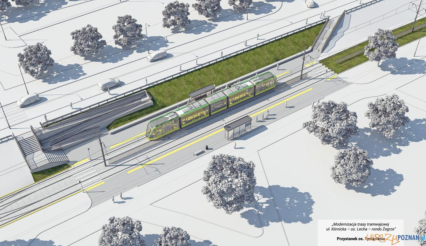 Plany modernizacji trasy tramwajowej  Foto: www.poznan.pl