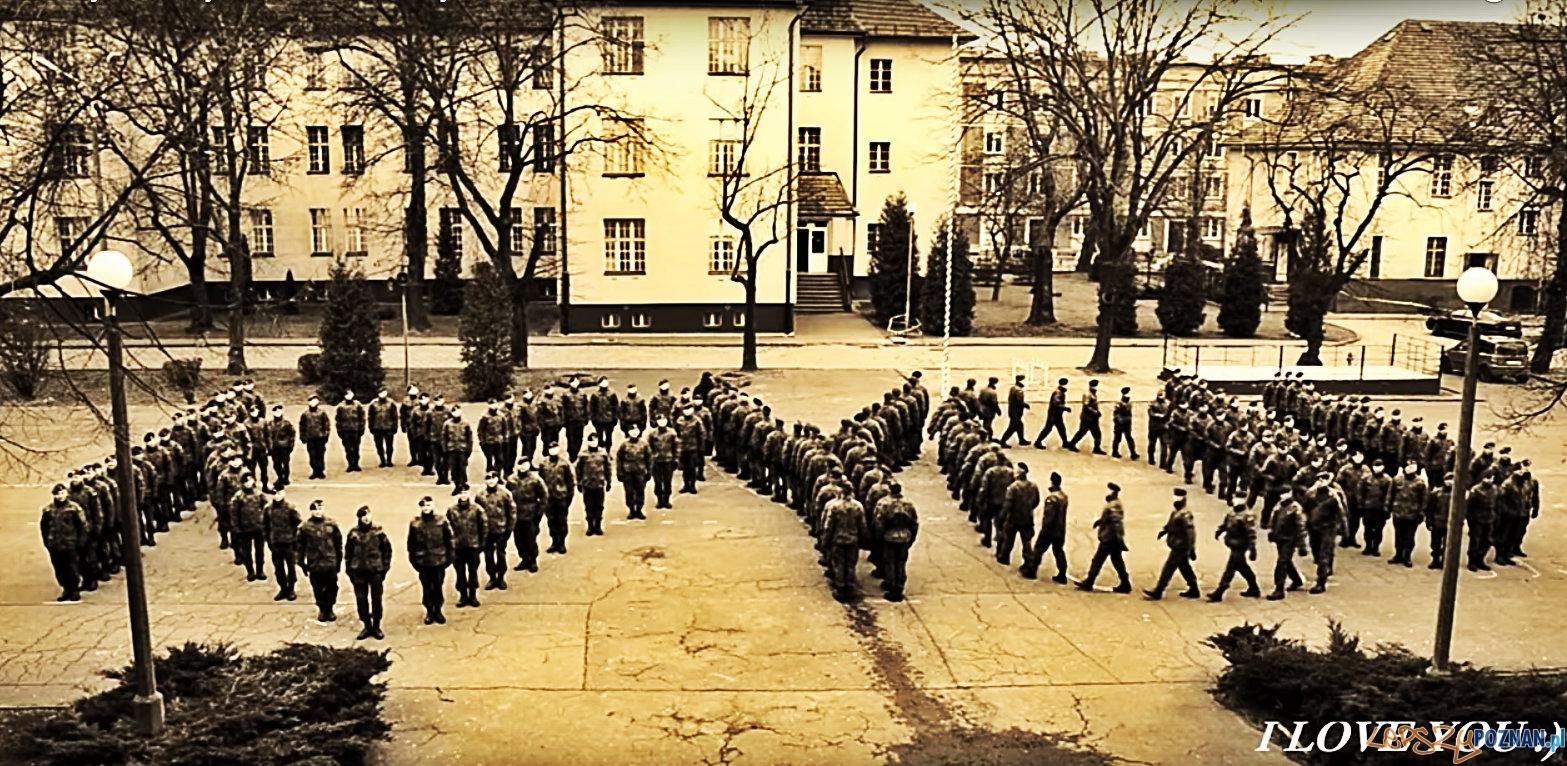 I LOVE YOU - od żołnierzy z Poznania na Walentynki  Foto: