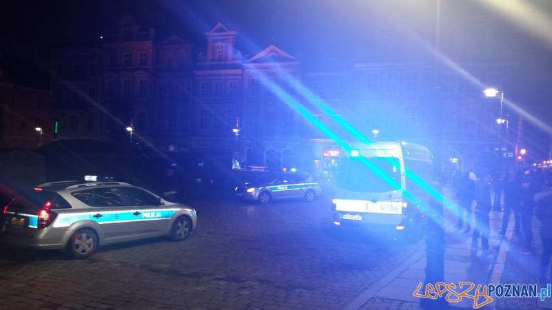 Nocna akcja policji na Starym Mieście  Foto: materiały KM Policji w Poznaniu