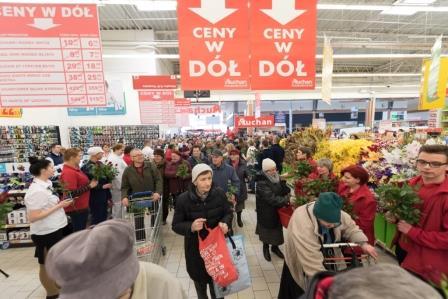 Otwarcie Auchan w M1  Foto: M1 / Magda Rzepnicka