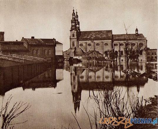 Powodź 1888 r - Kościół Bernardynów na Garbarach  Foto: MKZ