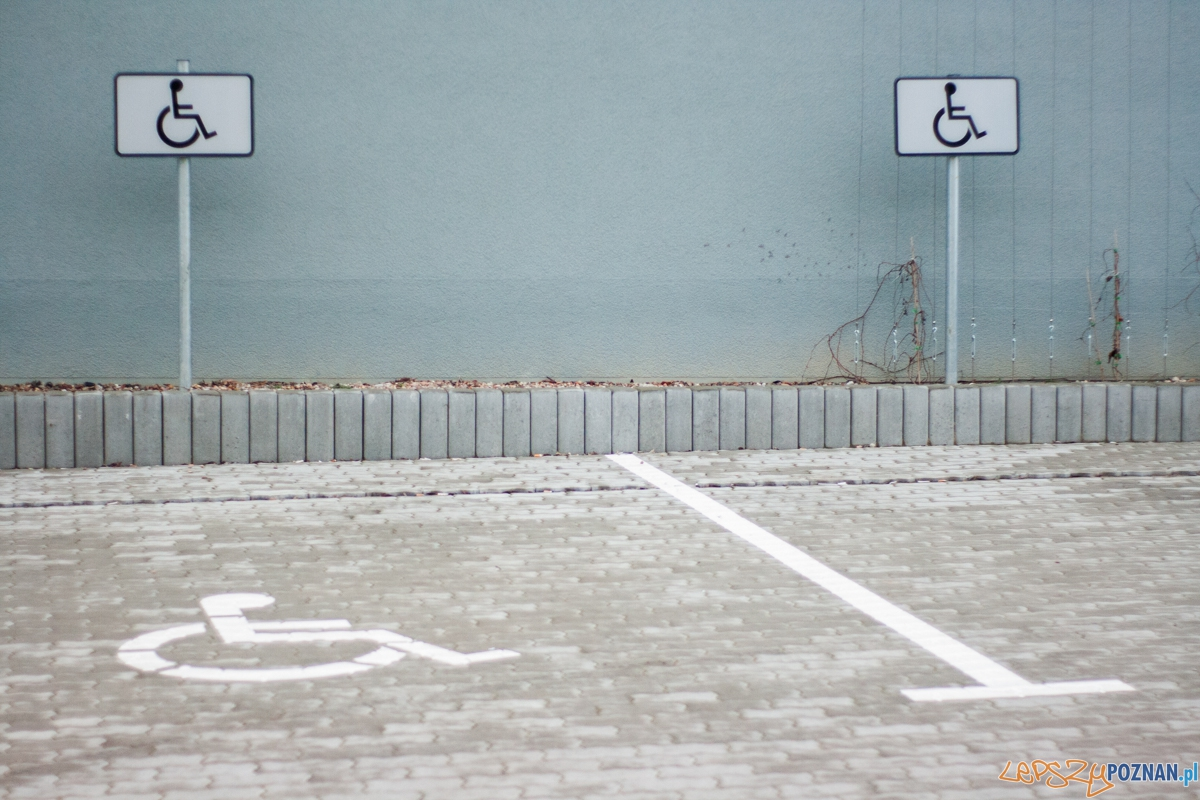 Miejsce parkingowe dla niepełnosprawnych  Foto: © lepszyPOZNAN.pl / Karolina Kiraga