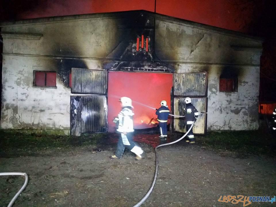 Pożar w Modrzu  Foto: OSP Luboń / Rafał