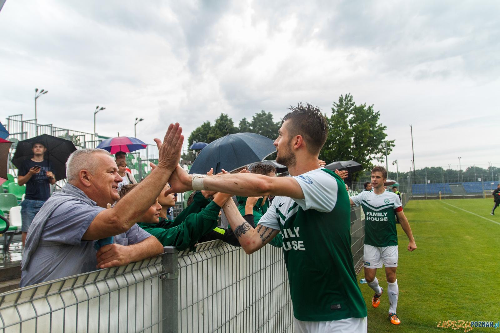Pilka nozna. II liga. Warta Poznan - Garbarnia Krakow. 15.06.2016  Foto: Pawel Rychter