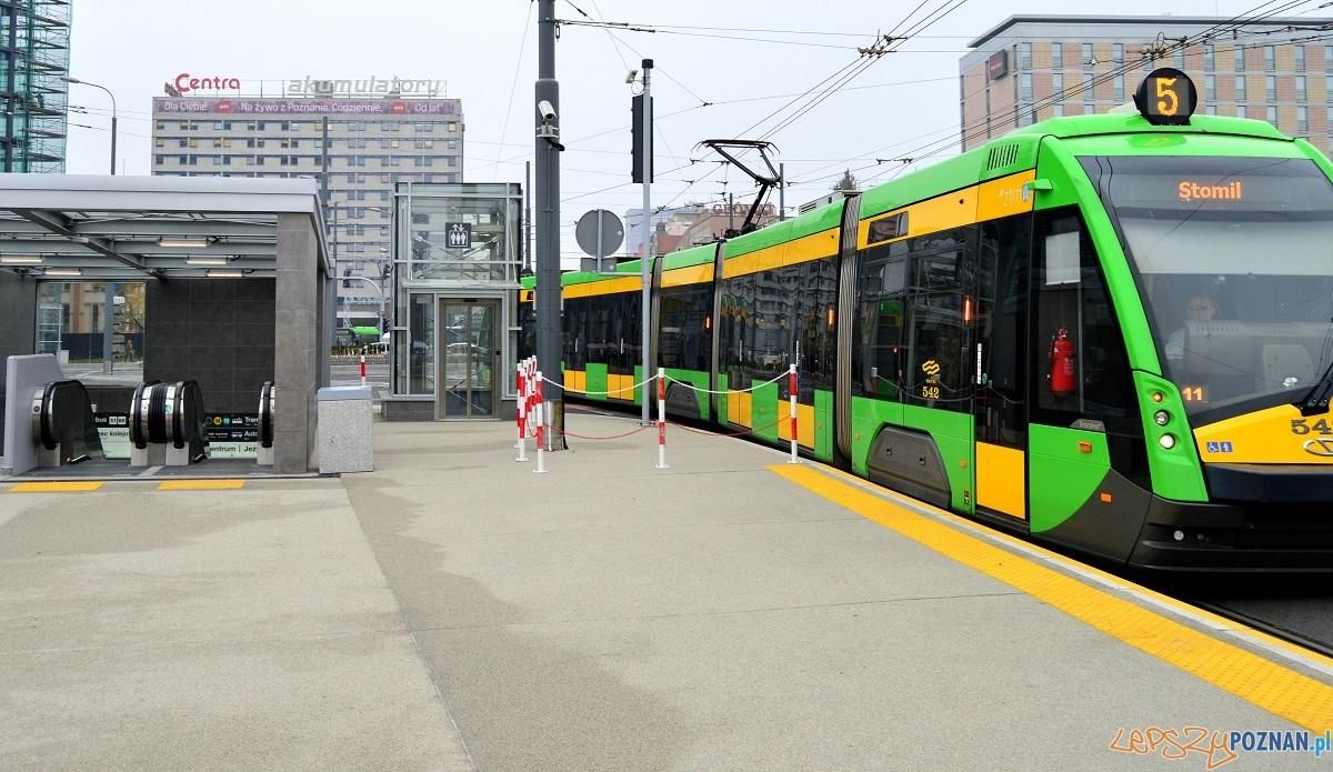 Rondo Kaponiera - tramwaj  Foto: Urząd Miasta Poznania