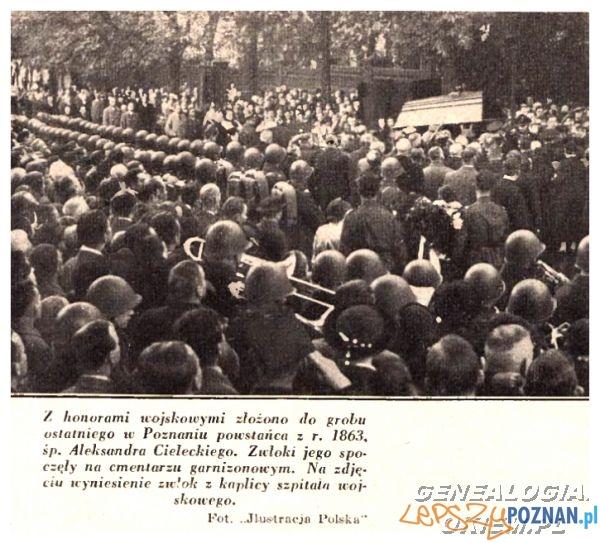 Pogrzeb Alaksandra Cieleckiego na Cytadeli  Foto: Ilustracja Polska - 31.10.1937 za: genealogia.okiem.pl
