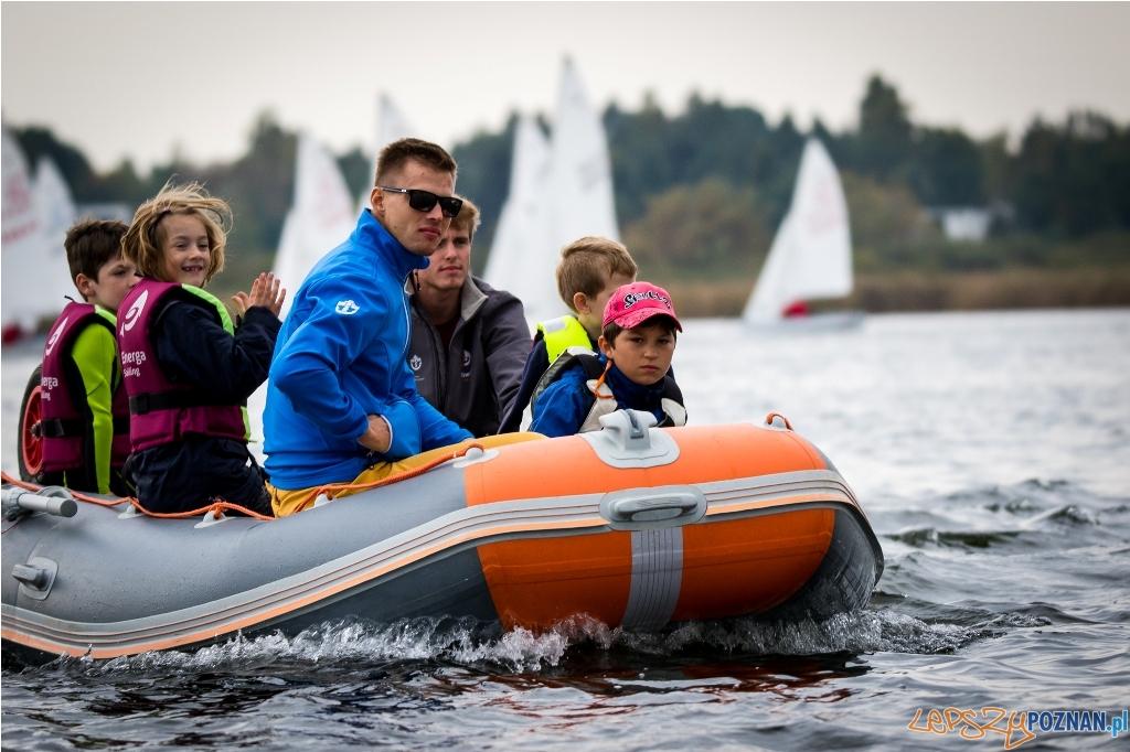 Regaty Optymistów na jeziorze Kierskim  Foto: Adam Michta