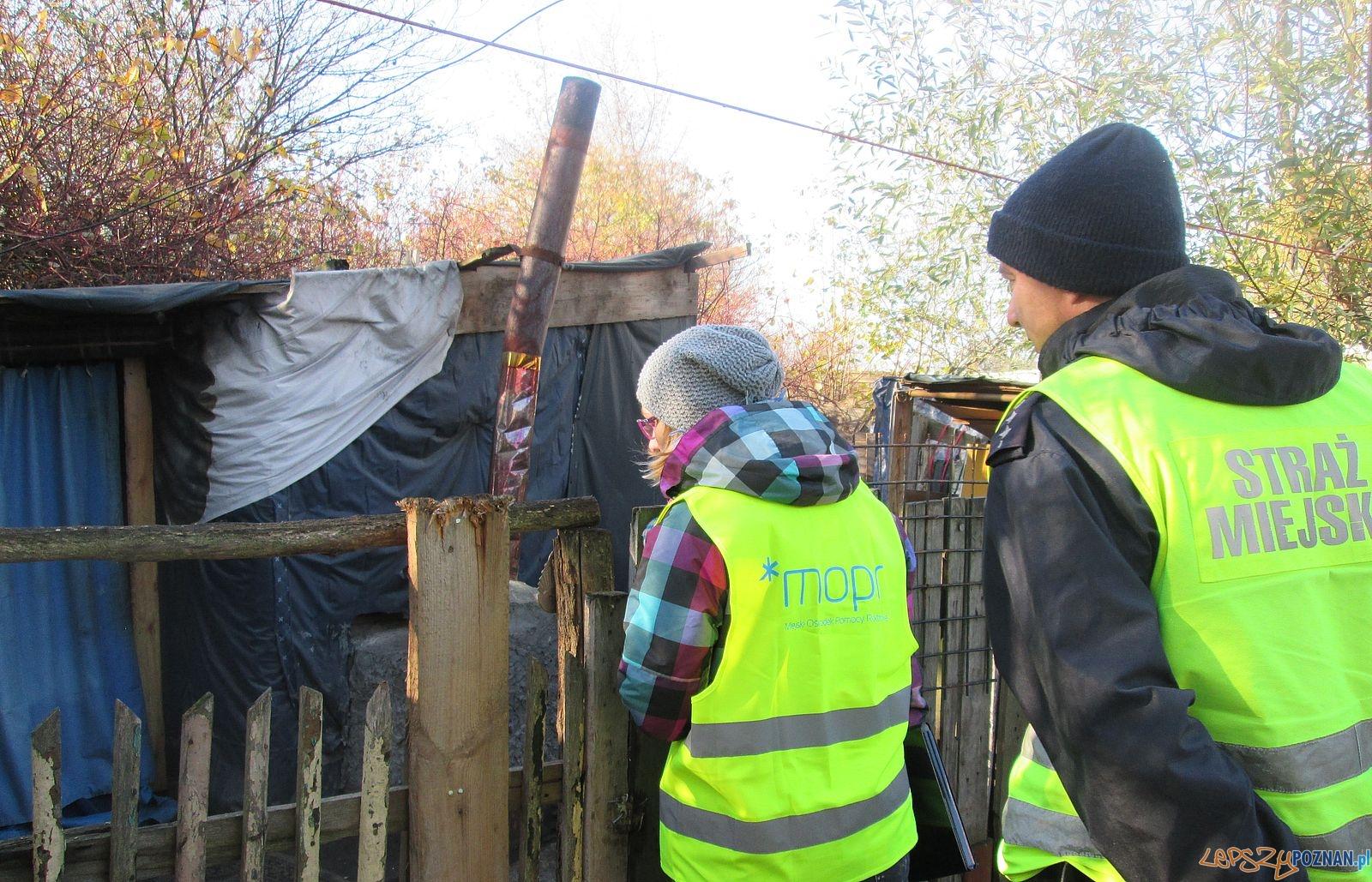 Bezdomni - Straż Miejska rozpoczęła kontrolę koczowisk  Foto: Straż Miejska