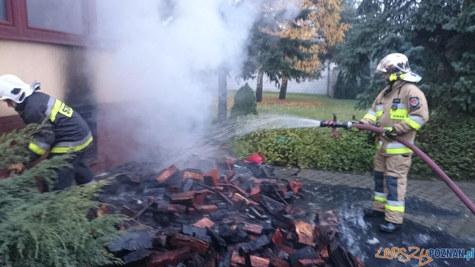 Pożar w piwnicy  Foto: OSP Suchy Las