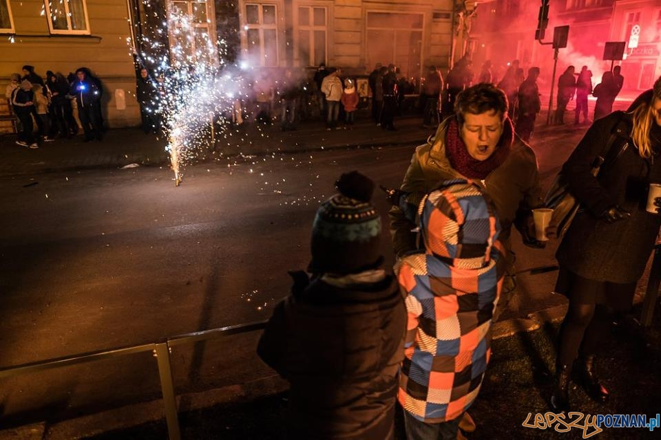 Sylwester na łazarskim skwerze przy ul. Małeckego 2015/2016  Foto: Mariusz Forecki / Strefa Kultury Łazarz