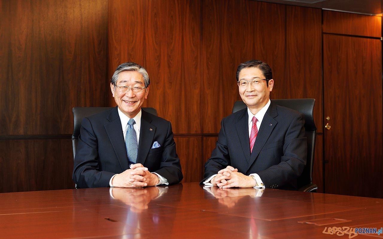 Chairman and Representative Director, CEO Naoki Izumiya  President and Representative Director, COO Akiyoshi Koji  Foto: Asahi Group Holdings