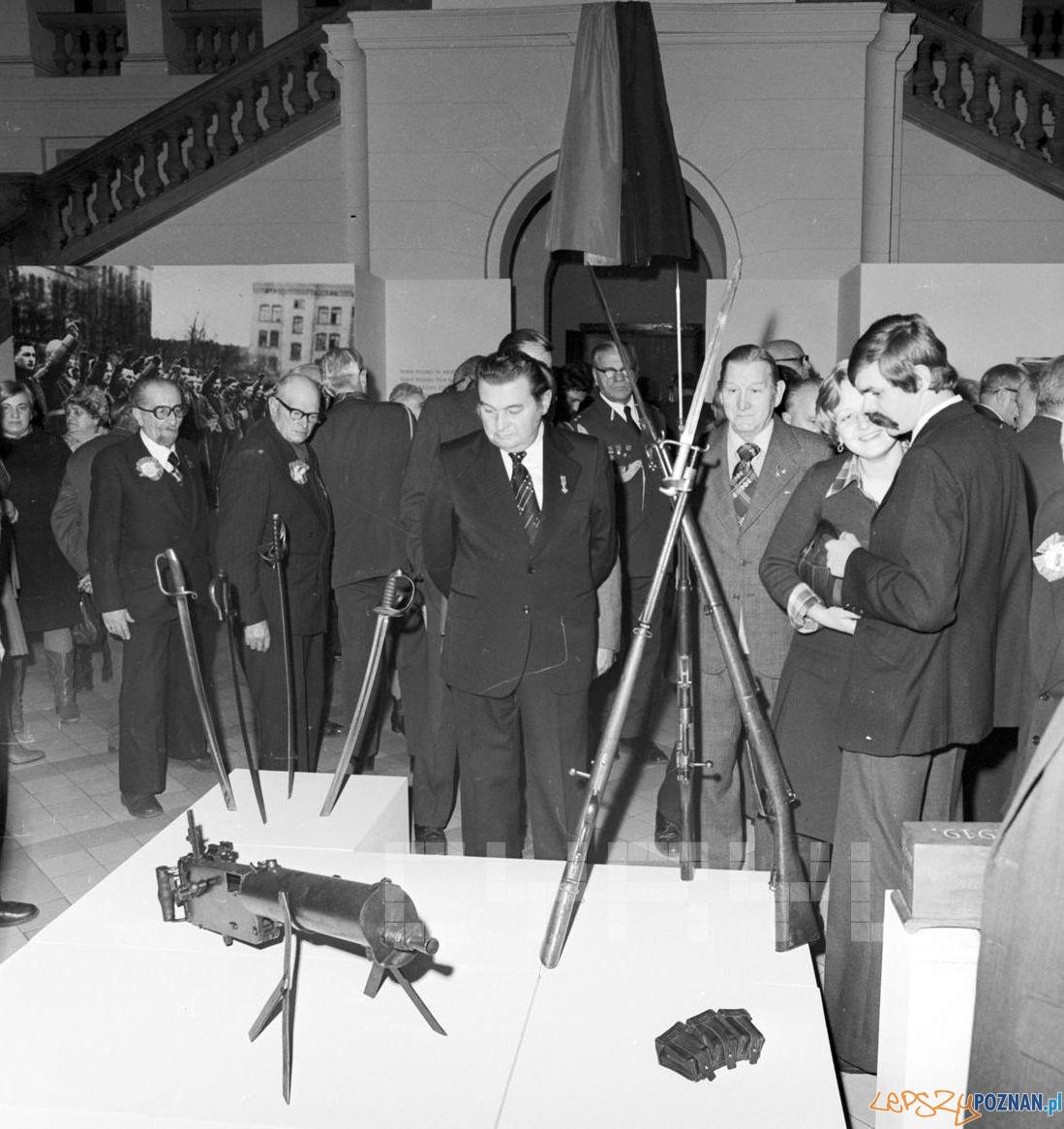 Wystawa z okazji 60.tej rocznicy Powstania Wielkopolskiego – w Muzeum Narodowym 18.12.1978  Foto: Stanisław Wiktor / Cyryl