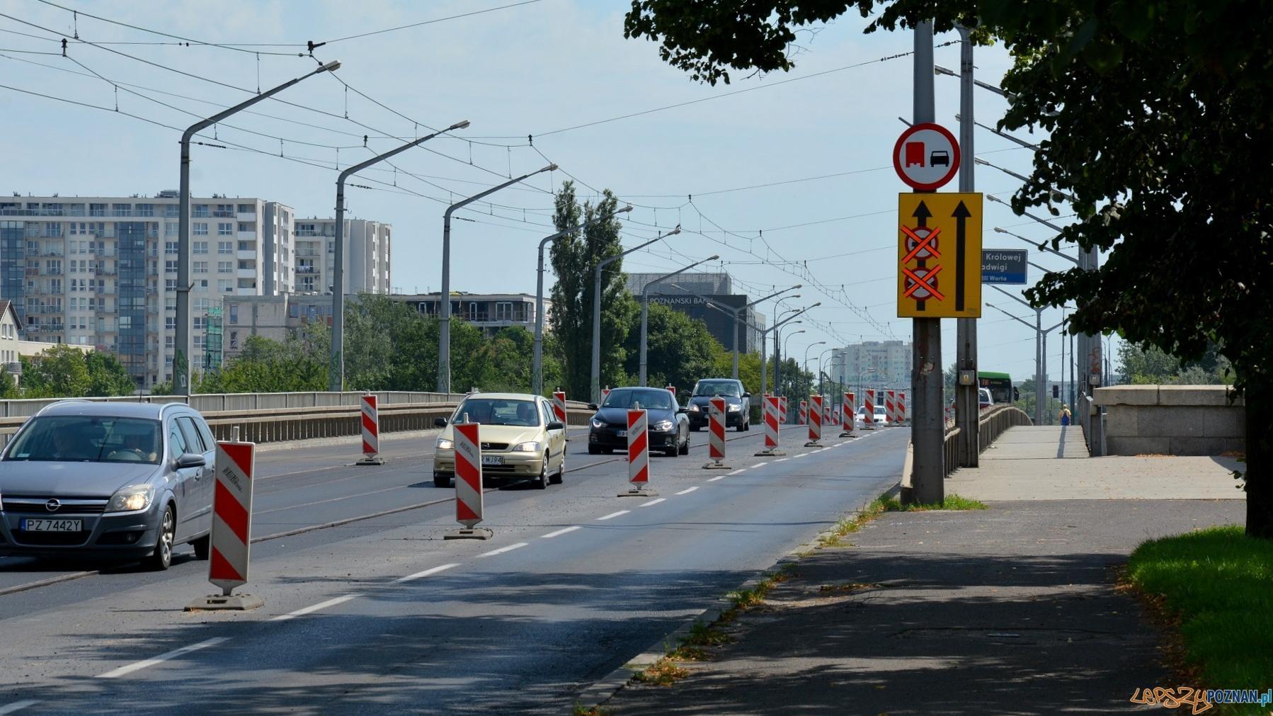 Mniej utrudnień na moście Królowej Jadwigi!  Foto: UMP