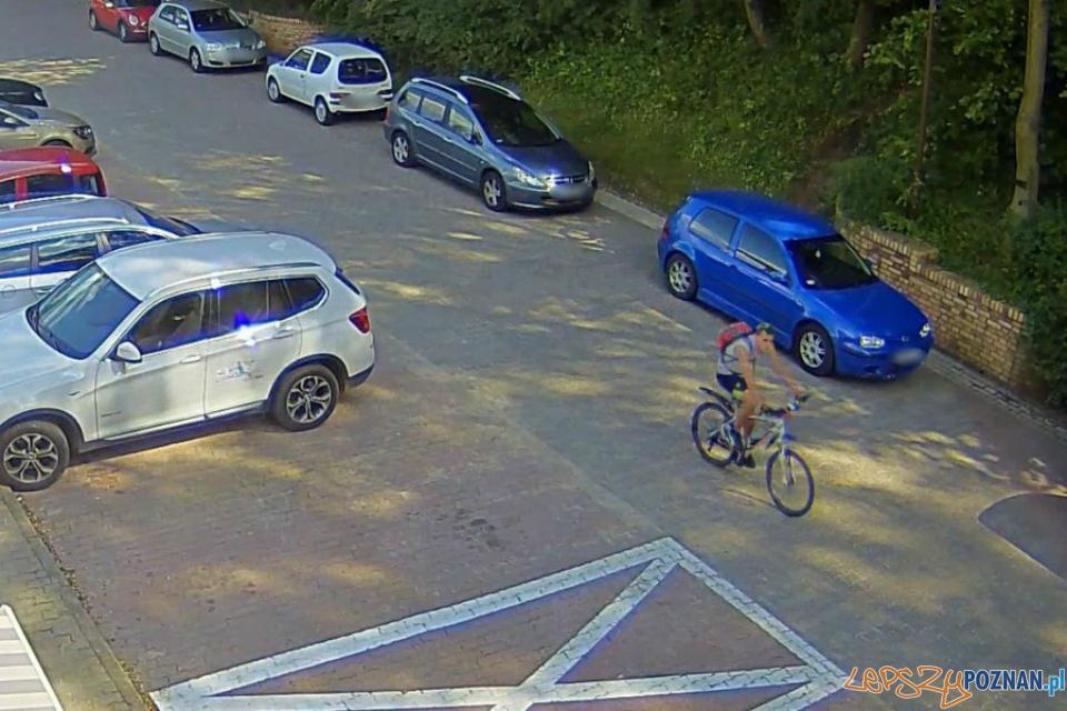 Agresywny rowerzysta  Foto: monitoring