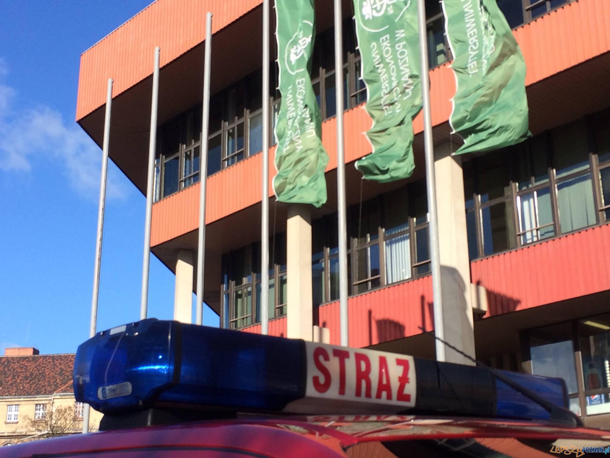 Straż Pożarna - ćwiczenia w Collegium Altum Uniwersytetu Ekonomicznego (5)  Foto: UEP / facebook
