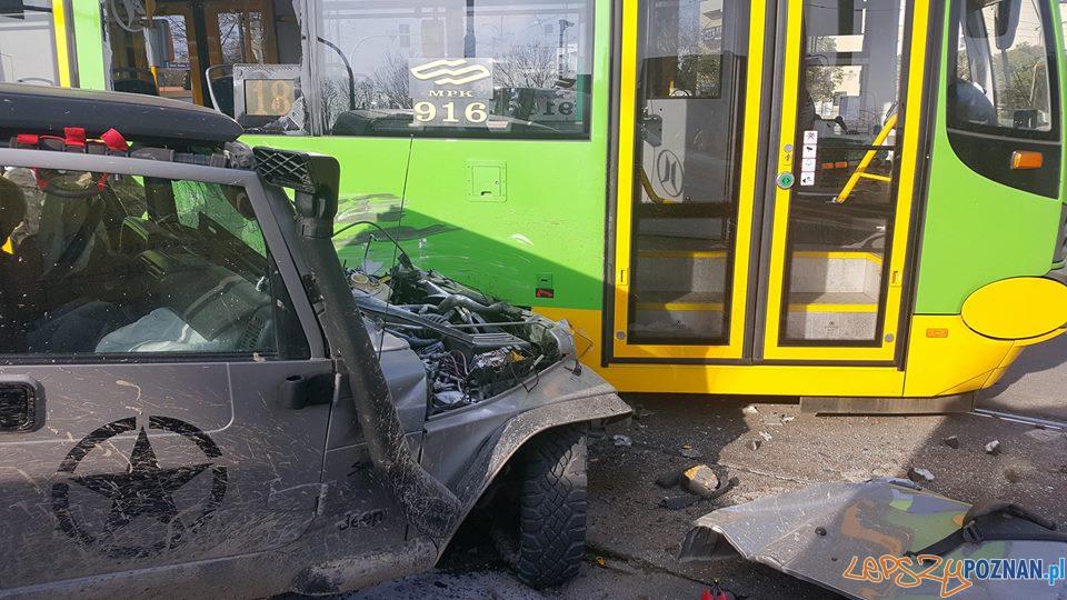 Wypadek na Jana Pawła II  Foto: Pomoc Drogowa Car Center Poznań