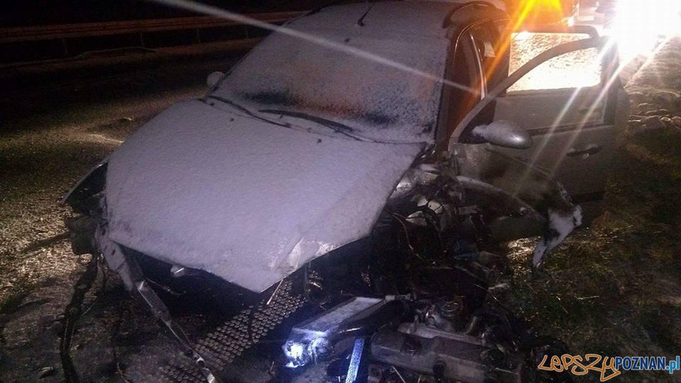 Wypadek na trasie S-5  Foto: OSP Kostrzyn