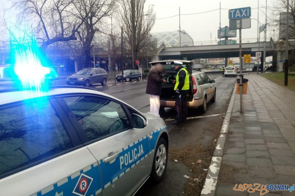Kontrola taksówek  Foto: KMP w Poznaniu