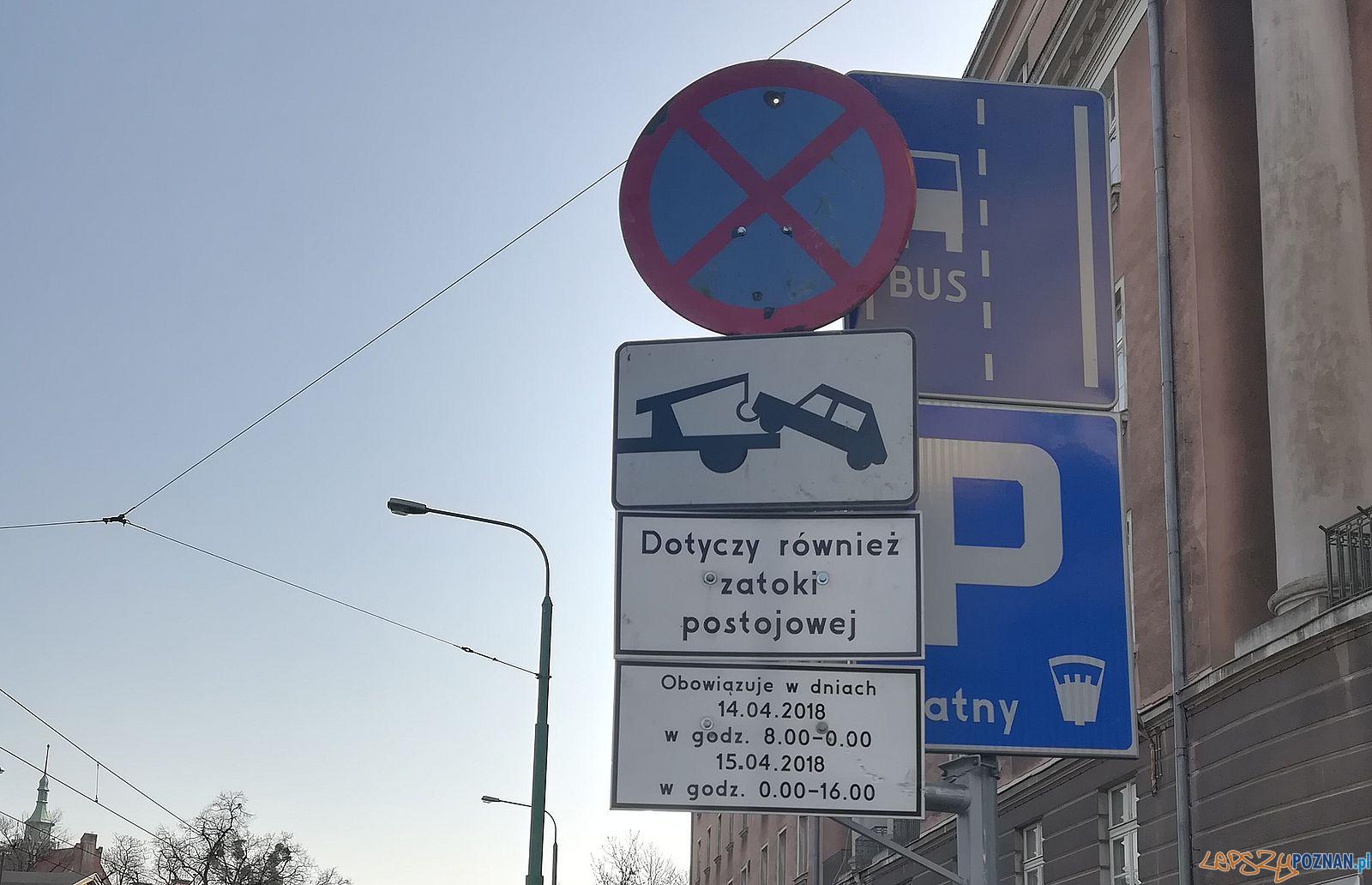 Grunwaldzka - zakaz parkowania  Foto: Straż Miejska