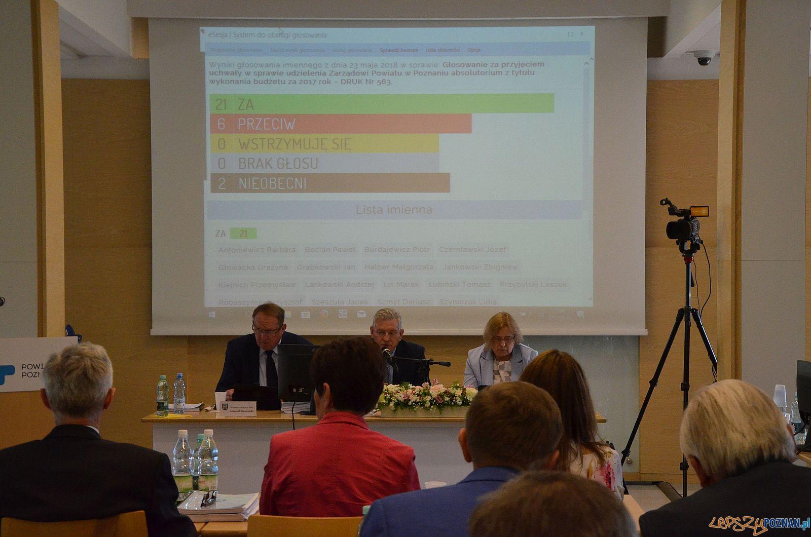 Powiat Poznański - sesja głosowanie  Foto: materiały prasowe