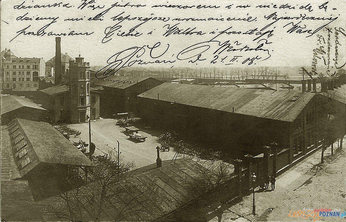 Strzelecka 1905-9 - Fabryka Machin i Urzadzen Rolniczych- kantor Cegielskiego  Foto: fotopolska