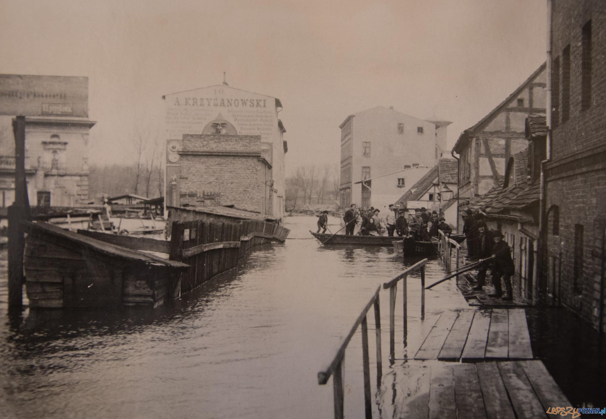 Piaskowa 1888 r.  - powódź  Foto: Miejski Konserwator Zabytków