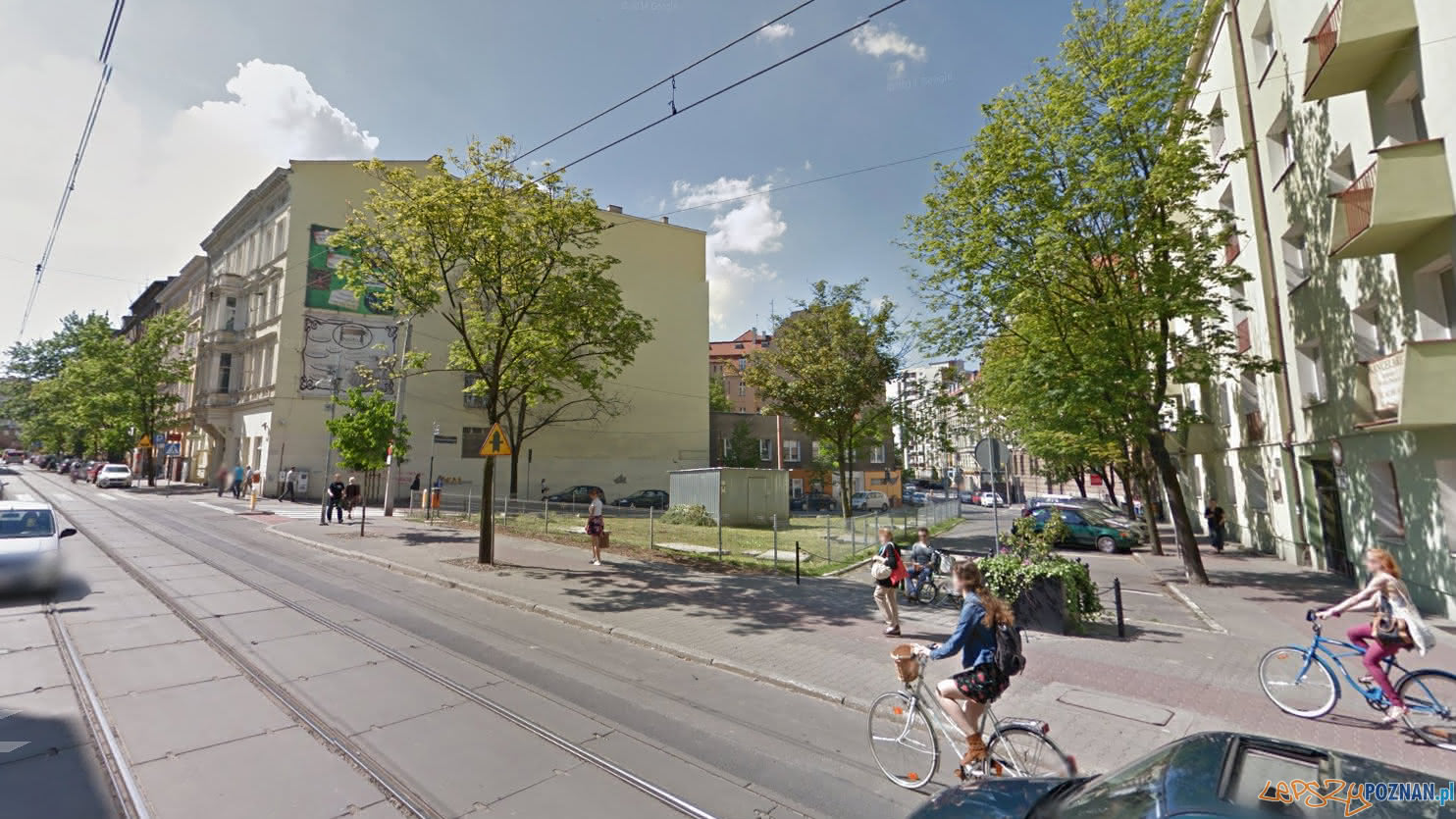 Działka przy ul. Feliksa Nowowiejskiego  Foto: Google Street View