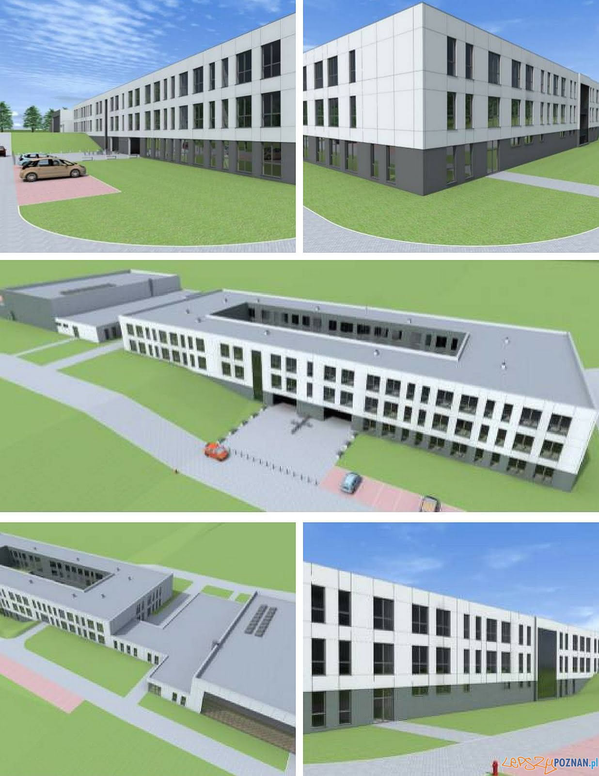 Szkoła zawdowa w Tarnowie Podgórnym - wizualizacje  Foto: Powiat Poznański - materiały prasowe