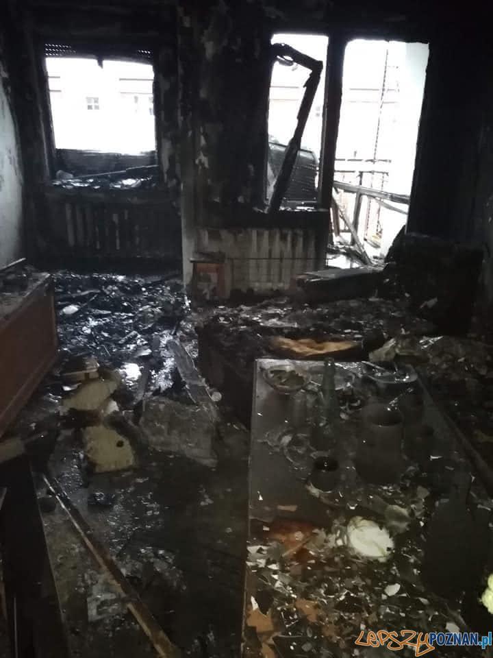 Pożar mieszkania w Śremie  Foto: OSP KSRG Chrząstowo