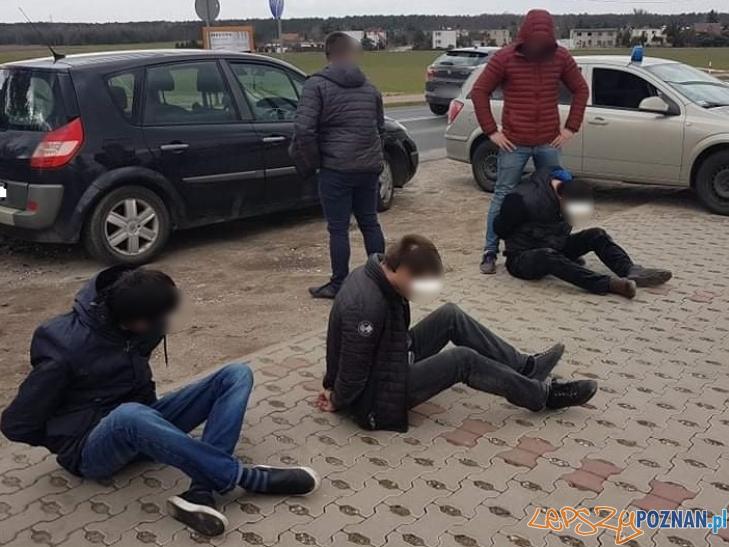 Złodzieje zatrzymani przez Policję  Foto: materiały prasowe / KWP Poznań