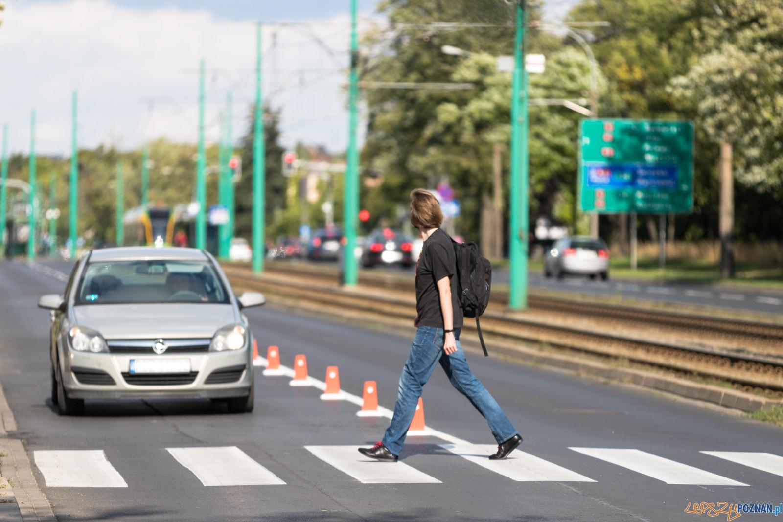 Przejście dla pieszych Grunwaldzka / Marszałkowska  Foto: lepszyPOZNAN.pl/Piotr Rychter