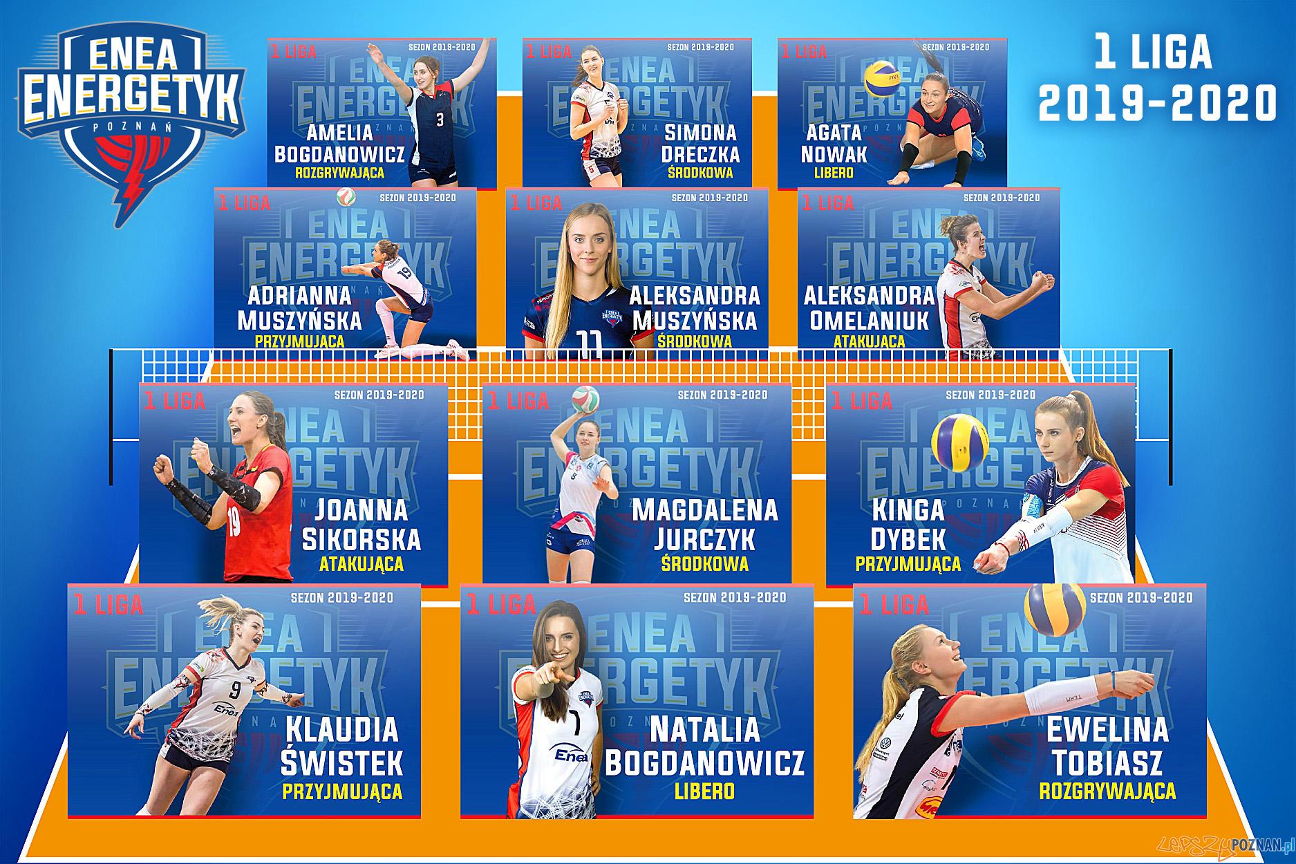 Enea Enrgetyk Poznań - 1 Liga 2019-2020  Foto: materiały prasowe