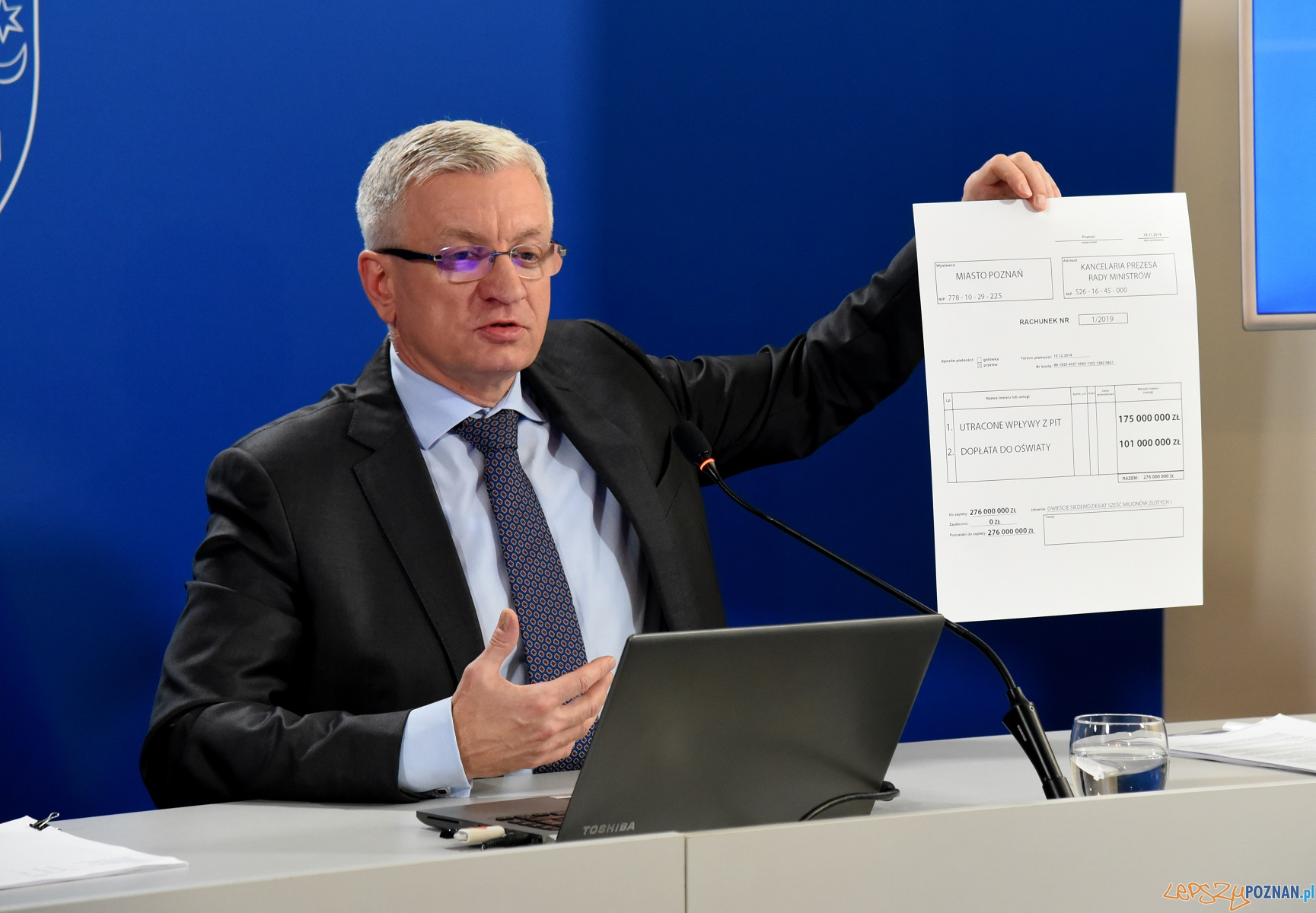 poznan wystawia rachunek rzadowi  Foto: materiały prasowe / UMP