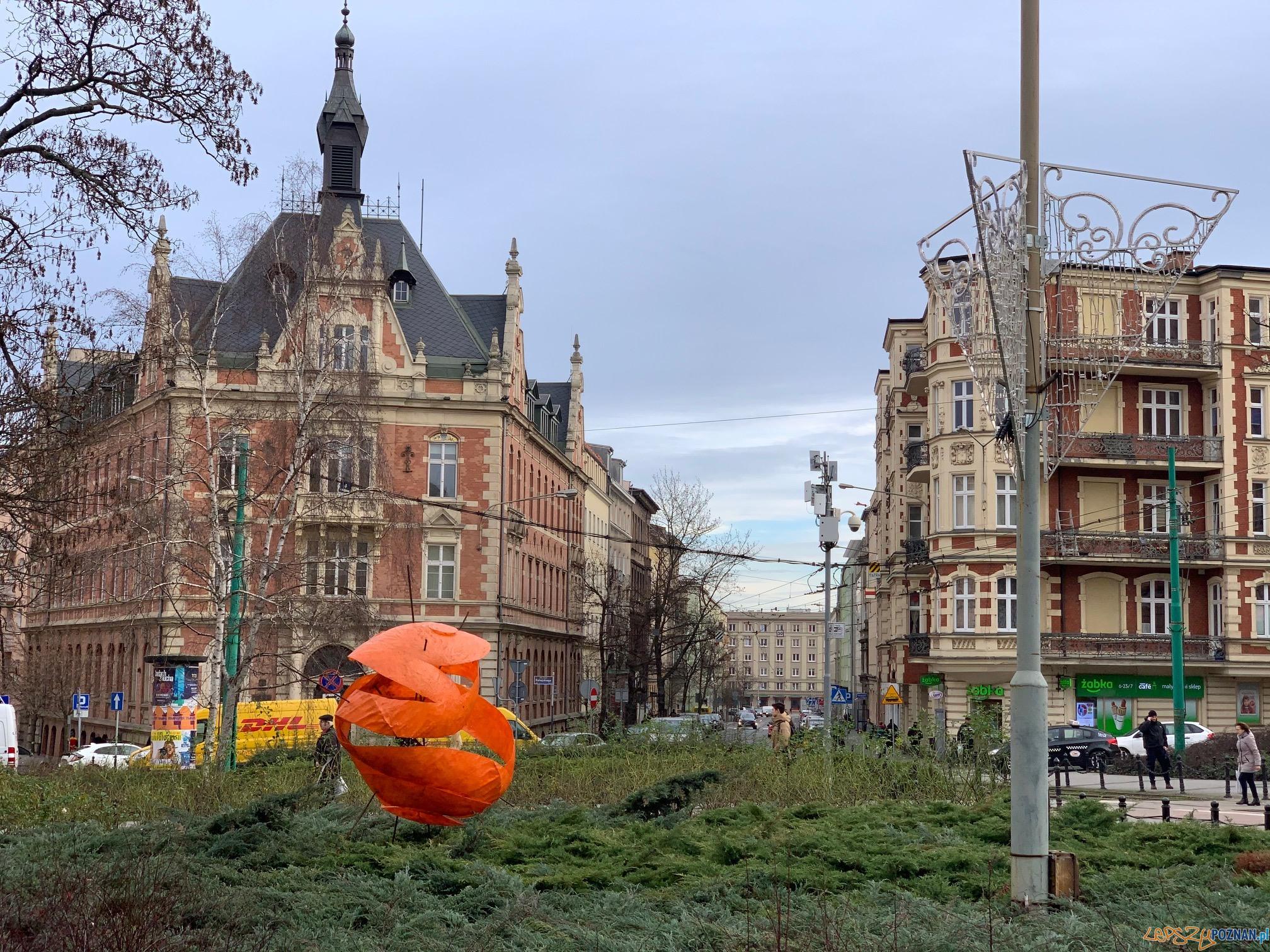 Plac Ratajskiego - park rzeźb  Foto: materiały UAM