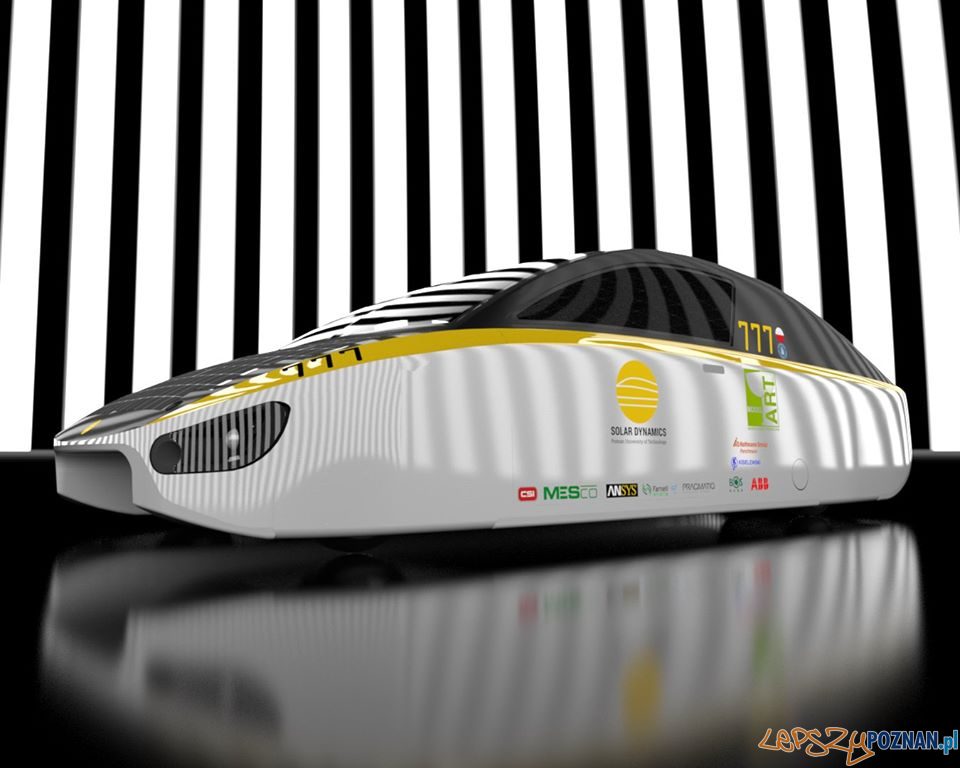 Samochód solarny  Foto: PUT Solar Dynamic / facebook