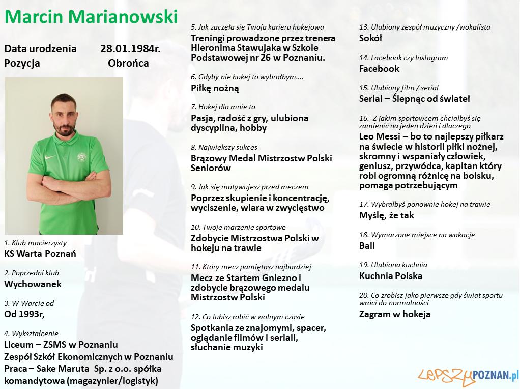 Warta Poznań - Marcin Marianowski Foto: Warta Poznań / materiały prasowe