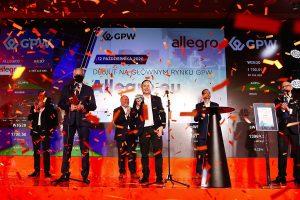 Sukces Allegro podczas giełdowego debiutu  Foto: GPW