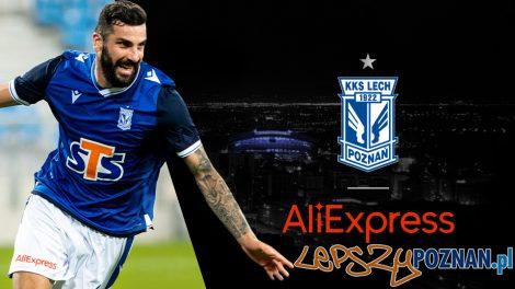 Lech Poznań gra z Aliexpress  Foto: materiały prasowe / lechpoznan.pl