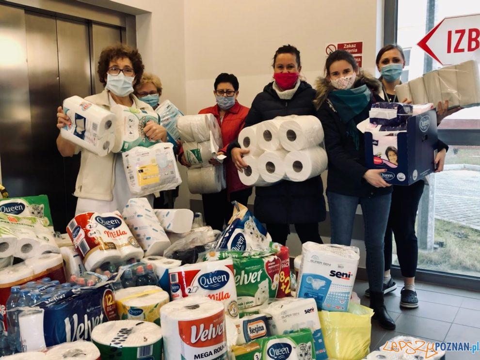 Dary ZS w Kiszewie dla szpitala w Obornikach  Foto: ZS Kiszewo