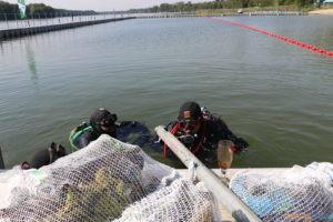 Podwodne sprzątanie Jeziora Lusowo  Foto: mat. prasowe